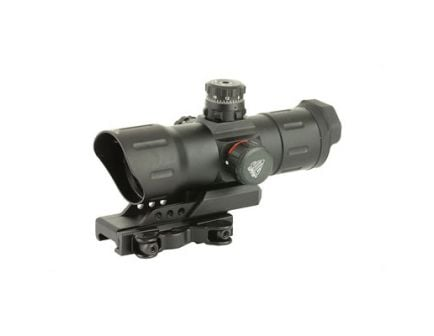 Leapers UTG Sight 6in 38mm Fits Picatinny, Red/Green CQB T-Dot ITA-Instant Target Aiming with Offset QD Mount - SCP-TDTDQ