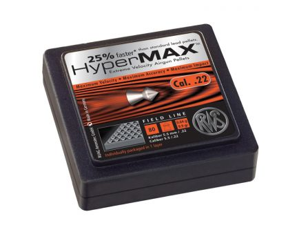 Umarex RWS Hypermax 9.9 gr .22 Alloy Pellet, 80/box - 2317338
