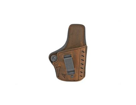 Versacarry Comfort Flex Deluxe RH IWB Single Stack Subcompact Holster, Distressed Brown Leather - CFD2113-1