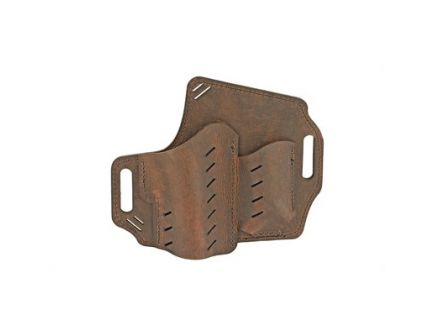 Versacarry Guardian Water Buffalo RH OWB Holster For Subcompact Handguns With Mag Pouch, Distressed Brown Leather - GM3BRN