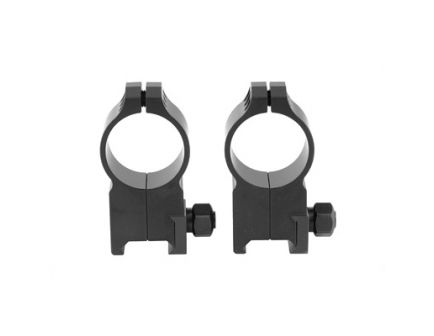 Warne Tactical Ring Ultra High 30mm Scope Rings, Black - 617M