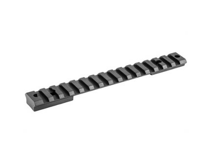 Warne Tactical 1 Piece Scope Base For Weatherby Mark V Magnum 9 Lug With 20 MOA Incline, Black - M654-20MOA