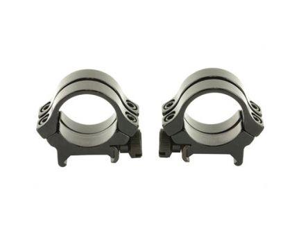 "Weaver Quad Lock Medium Height Detachable 1"" Scope Rings, Gloss Black - 49074"