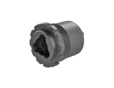 "Yankee Hill Machine Co 3-Lug Muzzle Device 1-3/8""-24 Thread Fits R9/Nitro N20, BLK - YHM-2045"