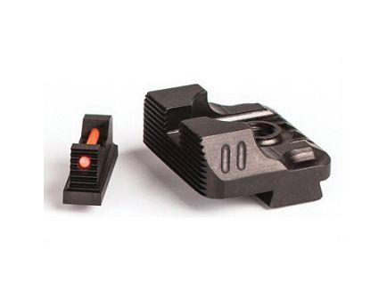 ZEV Technologies Sight Set w/ Fiber Optic Front & Combat v2 Black Rear - SIGHT.SET-215-FO-COM3-B