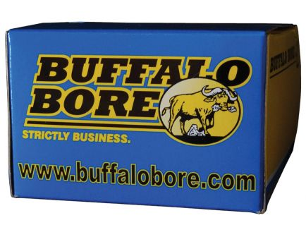 Buffalo Bore Heavy 444 Marlin 300 grain Jacketed Flat Nose Rifle Ammo, 20/Box - 9B/20