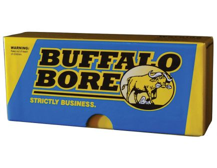 Buffalo Bore 45-70 Mag 500 grain Full Metal Jacket Flat Nose Lever Gun Rifle Ammo, 20/Box - 8D/20