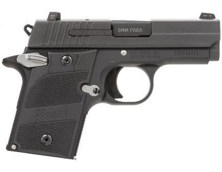 Sig Sauer P938 Nightmare Micro-Compact 9mm 6 Round Pistol, Hardcoat Anodized Black - 938-9-NMR-AMBI
