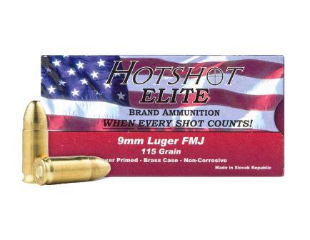 Century 9mm 115gr FMJ HotShot Ammunition 50rds - AM1904