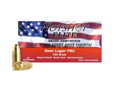 Century 9mm 124gr FMJ HotShot Ammunition, 50 Round Box ‒ AM1905