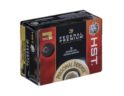 Federal 9mm 150gr HST Micro Ammunition 20rds - P9HST5S