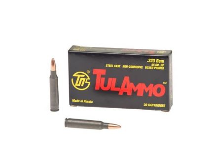 Tula 223 55gr HP Steel Cased Ammunition 20rd - TA223552