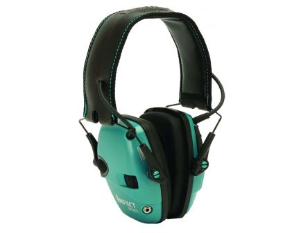 Howard Leight Impact Sport 22 dB Sound Amplification Over the Head Electronic Earmuff, Teal - R02521