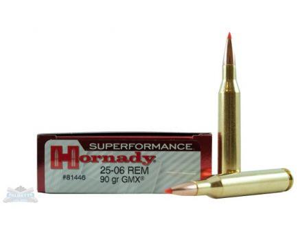 Hornady 25-06 Rem 90gr GMX Superformance Ammunition 20rds - 81446