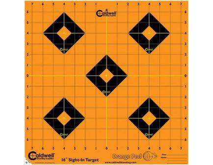 "Caldwell Orange Peel 16"" Flake Off Self-Adhesive Sight-In Shooting Target, Orange/Black, 5 Sheet/pack - 495253"