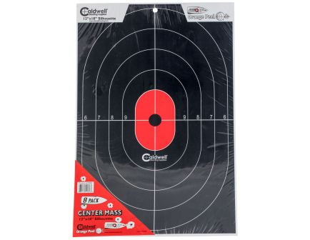 "Caldwell 12"" x 18"" Silhouette Flake Off Center Mass Target, 8/pack - 412803"