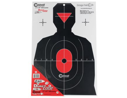 "Caldwell 12"" x 18"" Silhouette Flake Off DualZone Target, 8/pack - 308214"