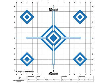 "Caldwell 16"" 5-Diamond Sight-In Shooting Target, Hi Contrast Blue, 10/pack - 198604"