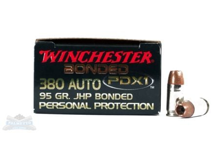Winchester 380 Auto/ACP 95gr PDX1 Defender Ammunition 20rds - S380PDB