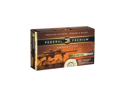 6.5 Creedmoor Ammo Federal Gold Match Berger 6.5 Creedmoor 130gr Hybrid OTM Rifle Ammunition, 20rds