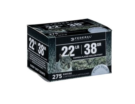 Federal .22 LR 38gr CPHP Field Pack Ammunition, 275 Round Box – 730