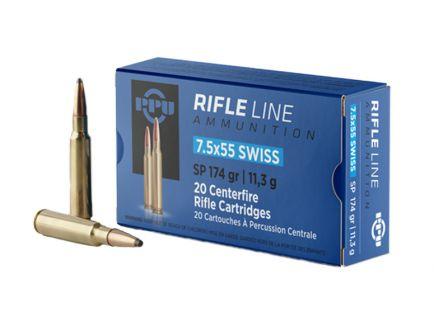 Prvi Partizan 7.5x55 Swiss SP 174gr 20 Rounds Ammunition - PP7SS
