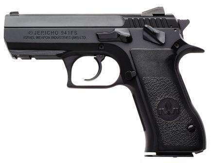 IWI Jericho 941 FS45 Mid-Size 45 ACP 16 Round Semi Auto Short Recoil Operated Pistol, Black - J941FS45