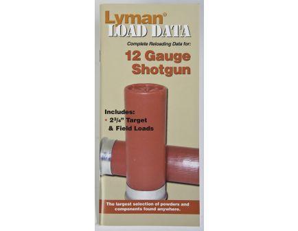 Lyman Load Data - 12 Gauge Shotgun 9780000