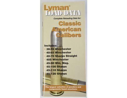 Lyman Load Data - Classic American Calibers 9780020