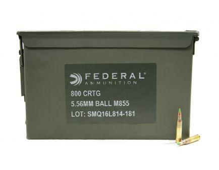 Federal 5.56mm 62gr XM855 Ammunition, 800 Rounds