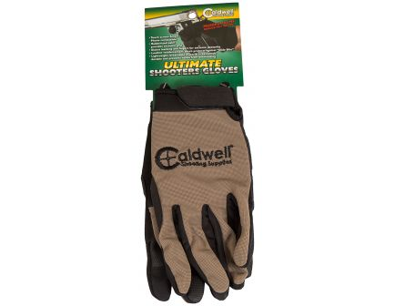 Caldwell Ultimate Polyester/Spandex Shooter Gloves, Small/Medium, Tan, 6/case - 1071004