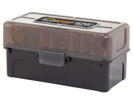 Caldwell AR-15 Mag Charger .223 Rem/5.56/.204 Ruger 50 Round Ammo Box, Translucent Black, 5/pack - 397623