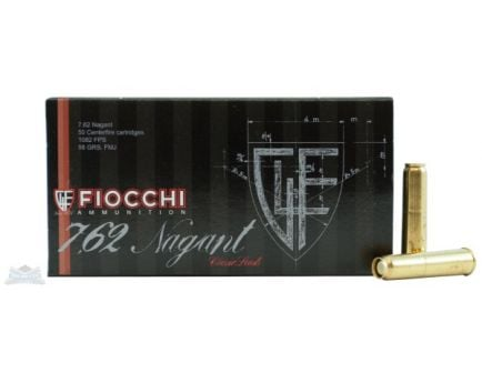 Fiocchi 7.62mm Nagant 98gr FMJ Ammunition 50rds - 762A