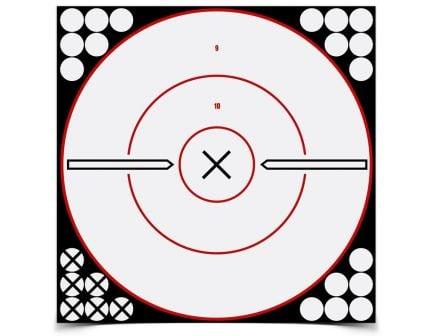 """Birchwood Casey Shoot-N-C 12"""" White and Black X-Bull's Eye, 5 Targets - 34019"""