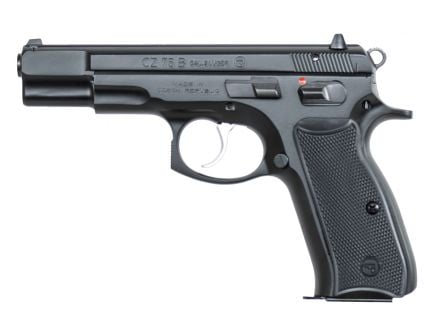 "CZ 75B 9mm 4.6"" Pistol, Black - 91102"