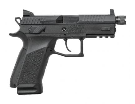 CZ P-07 Suppressor Ready 9mm Threaded Barrel Pistol, Black - 91289