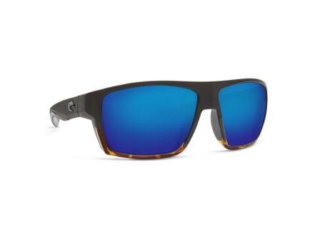 Costa Bloke 400G Blue Mirror Sunglasses, Matte Black/Tortoise Frame - BLK 181 BMGLP