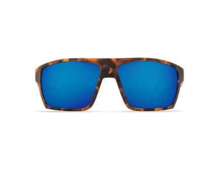 Costa Bloke 400G Blue Mirror Sunglasses, Matte Tortoise/Black Frame - BLK 125 BMGLP