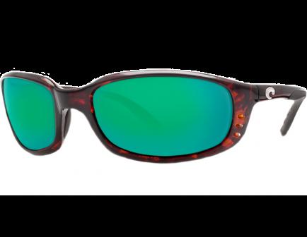 Costa Brine - Tortoise Shell Frame Green Mirror 580P Lens Sunglasses - BR 10 OGMP