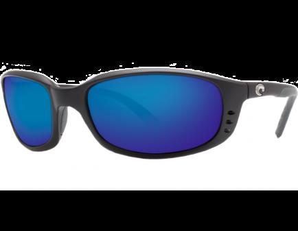 Costa Brine Matte Black Frame Blue Mirror 580P Lens Sunglasses - BR 11 OBMP
