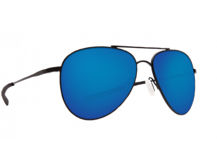 Costa Cook Satin Black Frame Blue Mirror 580P Lens Sunglasses - COO 101 OBMP
