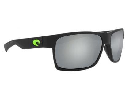 Costa Half Moon Matte Black Frame Silver Mirror 580G Lens Sunglasses - HFM 200 OSGP