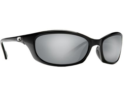 Costa Harpoon Black Frame Silver Mirror 580G Lens Sunglasses - HR 11 OSCGLP