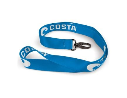 Costa Lanyard, Blue With White Logo - LY 46