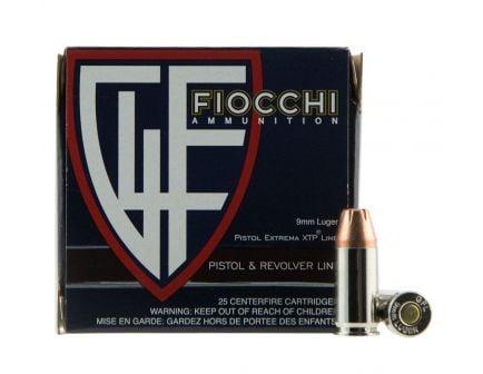 Fiocchi Extrema XTP 9mm 115 gr XTPHP 25 Rounds Ammunition - 9XTP25