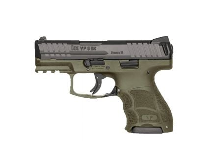 HK VP9SK 9mm Subcompact Pistol with Night Sights, OD Green - 81000098