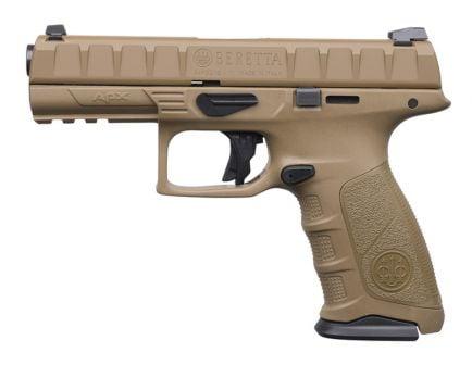 """Beretta APX Full Size 9mm 4.9"""" Pistol, Flat Dark Earth - JAXF92105"""