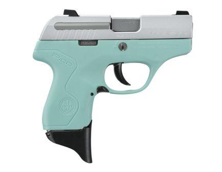 "Beretta Pico Inox .380 ACP 2.7"" Pistol with Robin's Egg Blue Frame - JMP8D75"