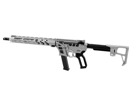 "Lead Star Arms Prime 16"" Stainless Steel PCC 9mm AR-9 Rifle, Gunmetal w/ Black Accents"