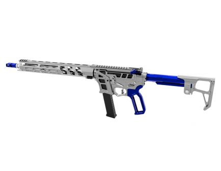 "Lead Star Arms Prime 16"" Stainless Steel PCC 9mm AR-9 Rifle, Gunmetal w/ Blue Accents"